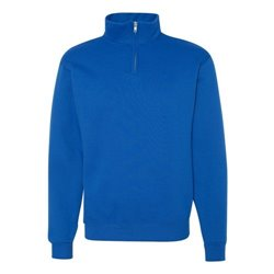 Adult Quarter-Zip Cadet Collar Sweatshirt