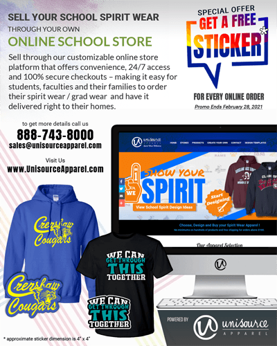 Let's Setup Your Own School Webstore plus get Free Stickers!